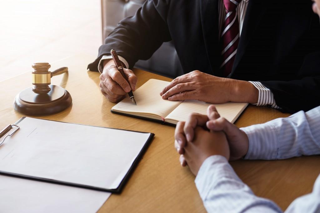Man hiring a lawyer