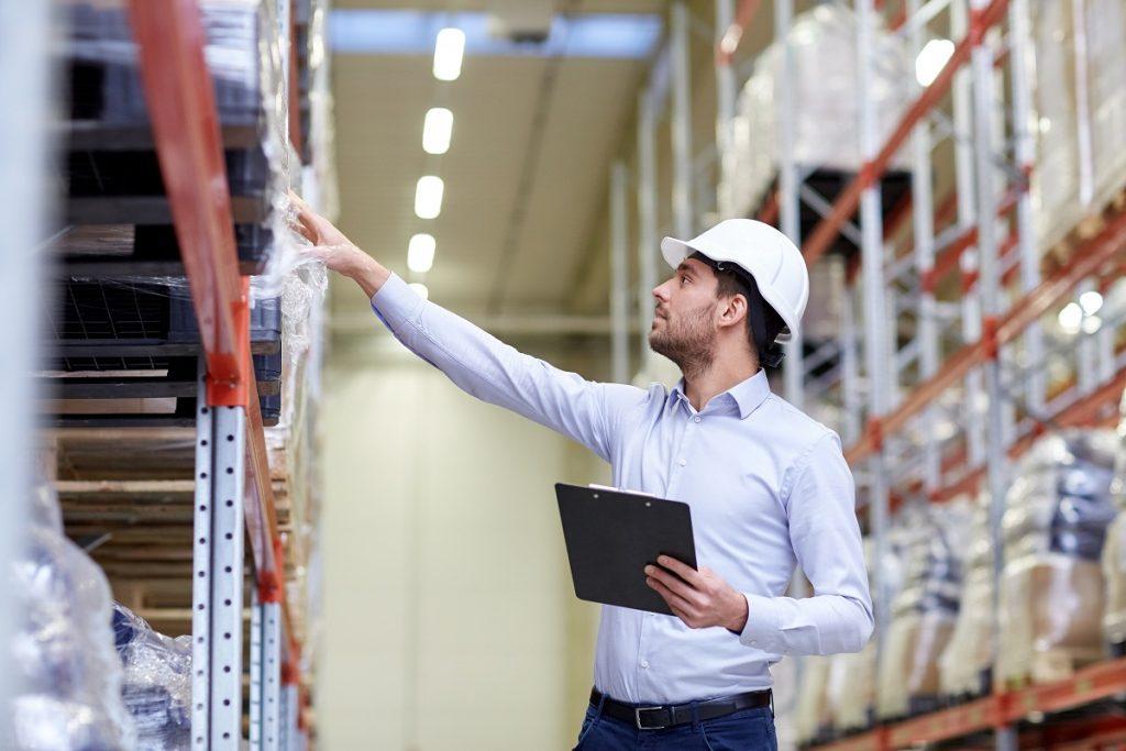 Man looking at shelves