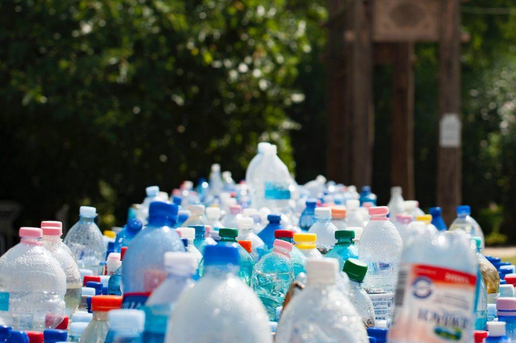 plastic bottles disposed