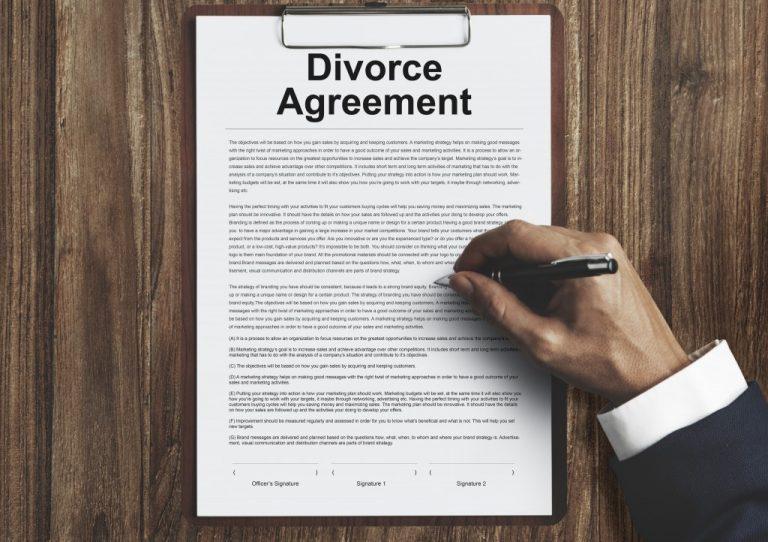 Divorce agreement form