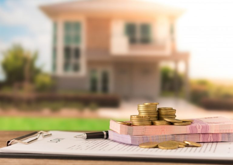 money with home background