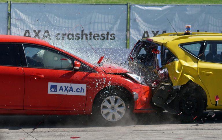 car crashing against each other