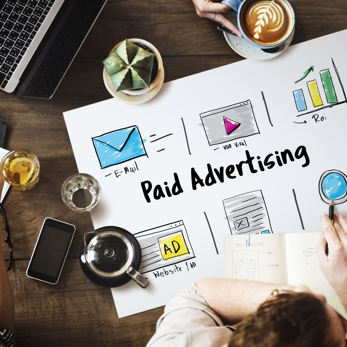 paid advertising concept