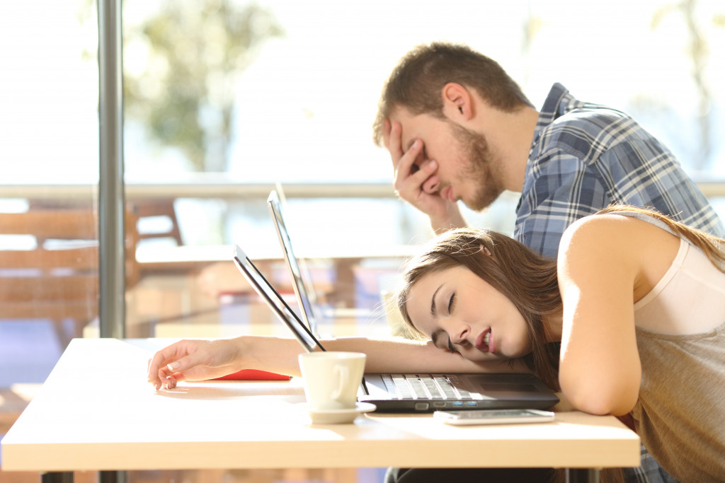 tired students